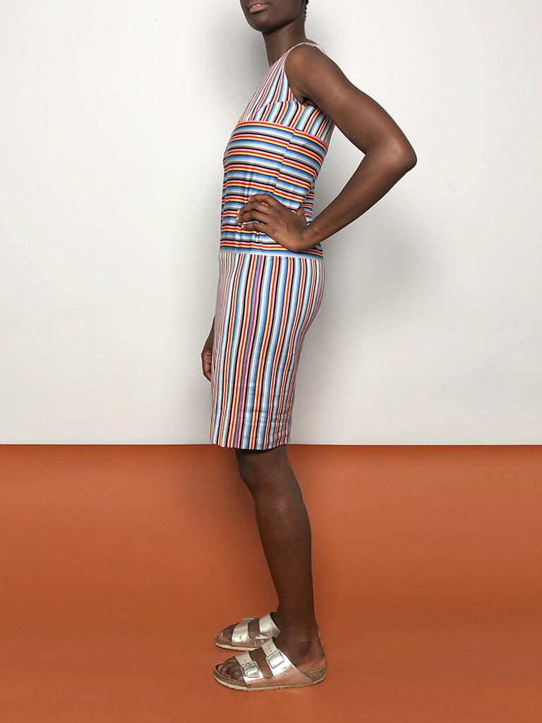 60s MULTISTRIPES DRESS