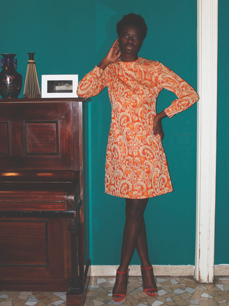 TRAPEZE ORANGE DRESS