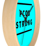 PCOS Strong Wall clock