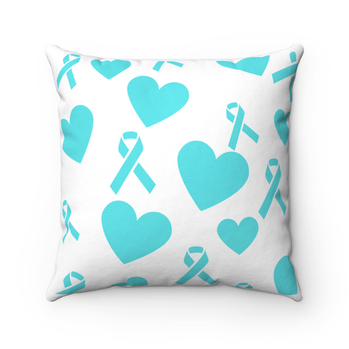 Ribbons & Hearts Square Pillow