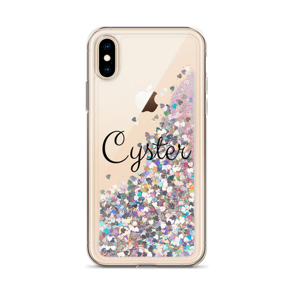 Cyster Glitter iPhone Case