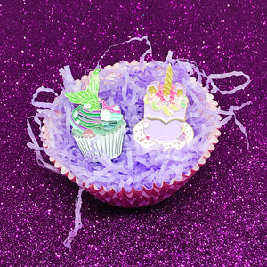 Mermaid Cupcake Enamel Pin