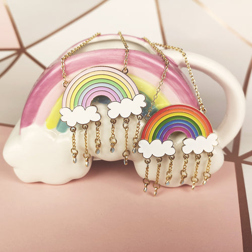 Rainbow & Raindrops Necklace