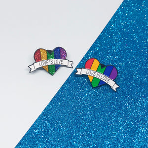 Love is Love Bright Rainbow LGBTQ+ Flag Enamel Pin