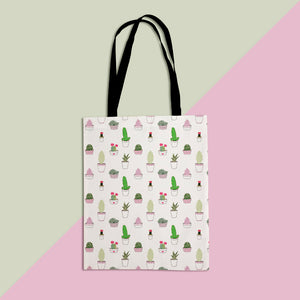 Cactus & Succulent Pattern Tote Shopper Bag