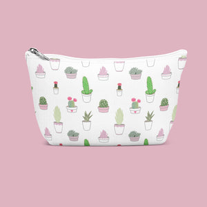 Cactus & Succulent Pattern Cosmetic/Wash Bag
