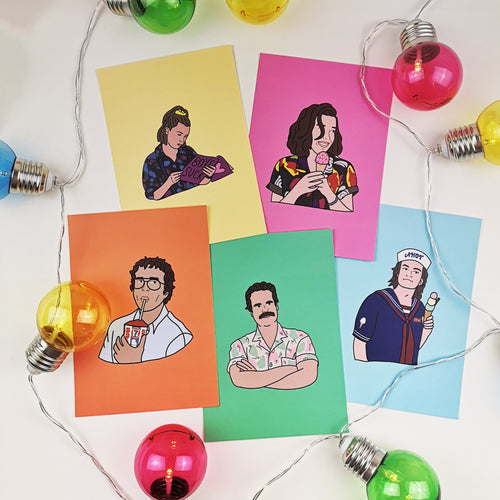 Stranger Things Postcards