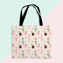 Load image into Gallery viewer, Sweet Treats Pattern Tote Shopper Bag