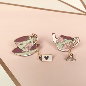 Teacup & Teapot Enamel Pins