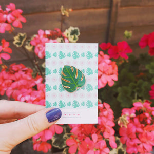 Cheese Plant Enamel Pin