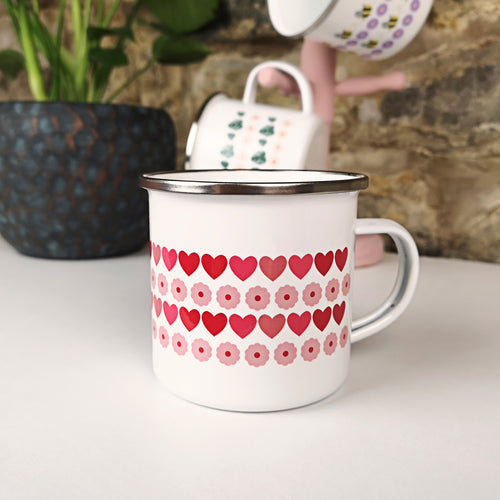 Summer Love Enamel Mug