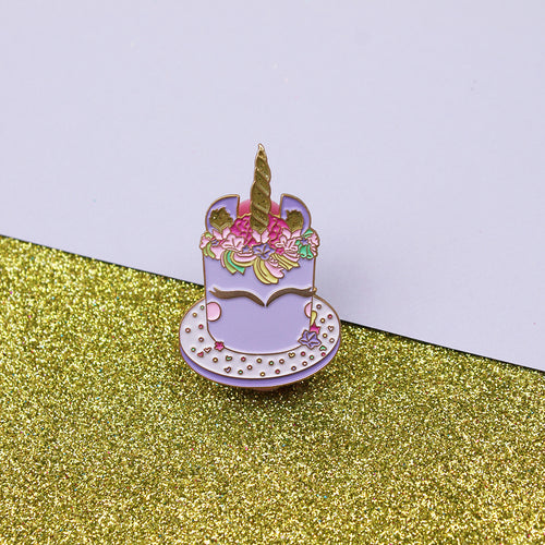 Unicorn Cake Enamel Pin