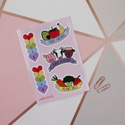 Vegan Sticker Sheet
