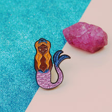 Load image into Gallery viewer, Glitter Mermaid Enamel Pins