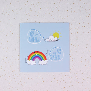 Rainbeau & Sunshine Greeting Card