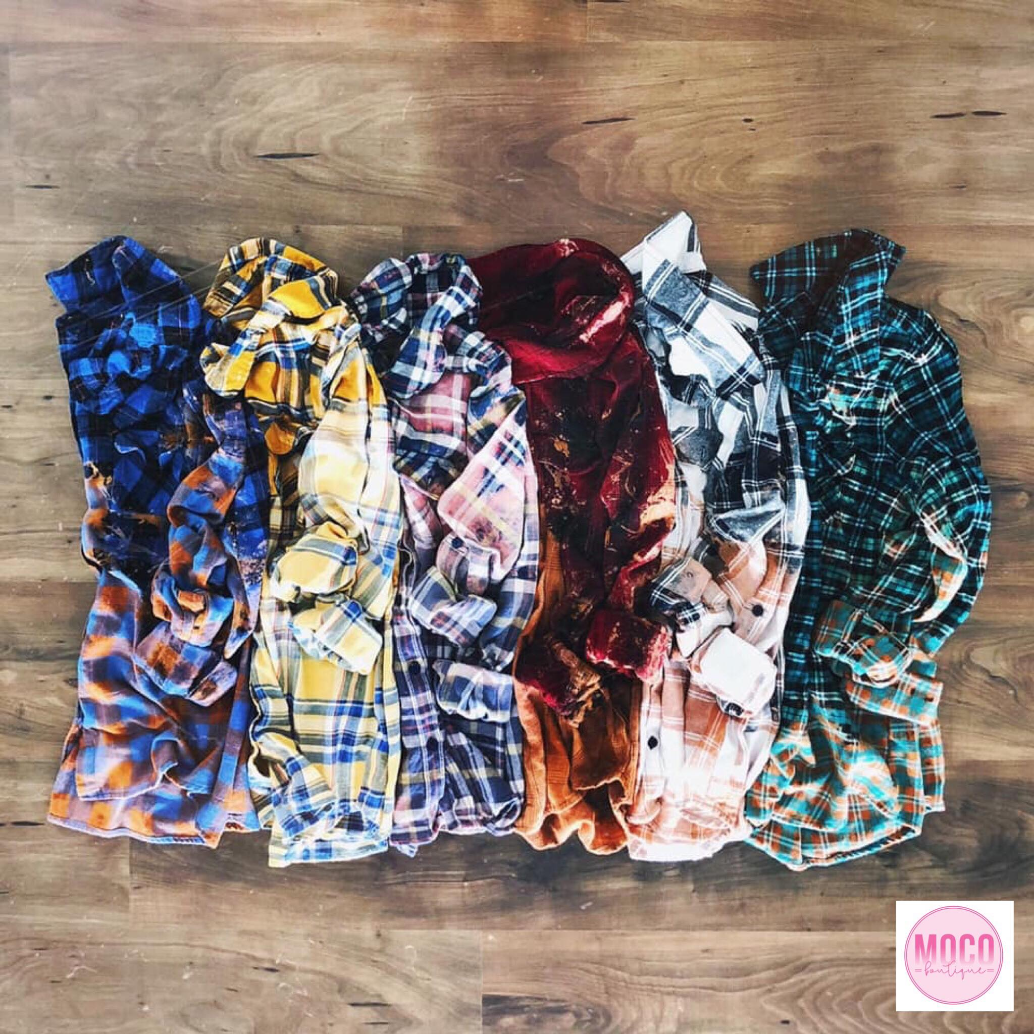 Hand-Dipped Flannel Button Down