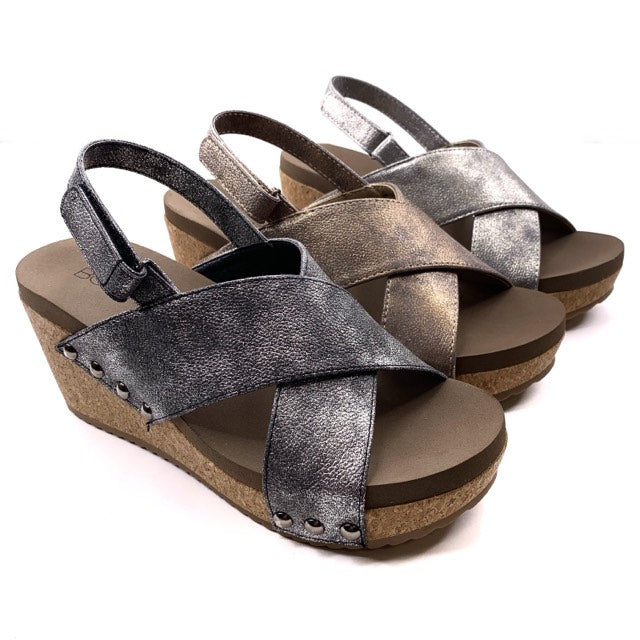 Pewter Wedges With Memory Foam