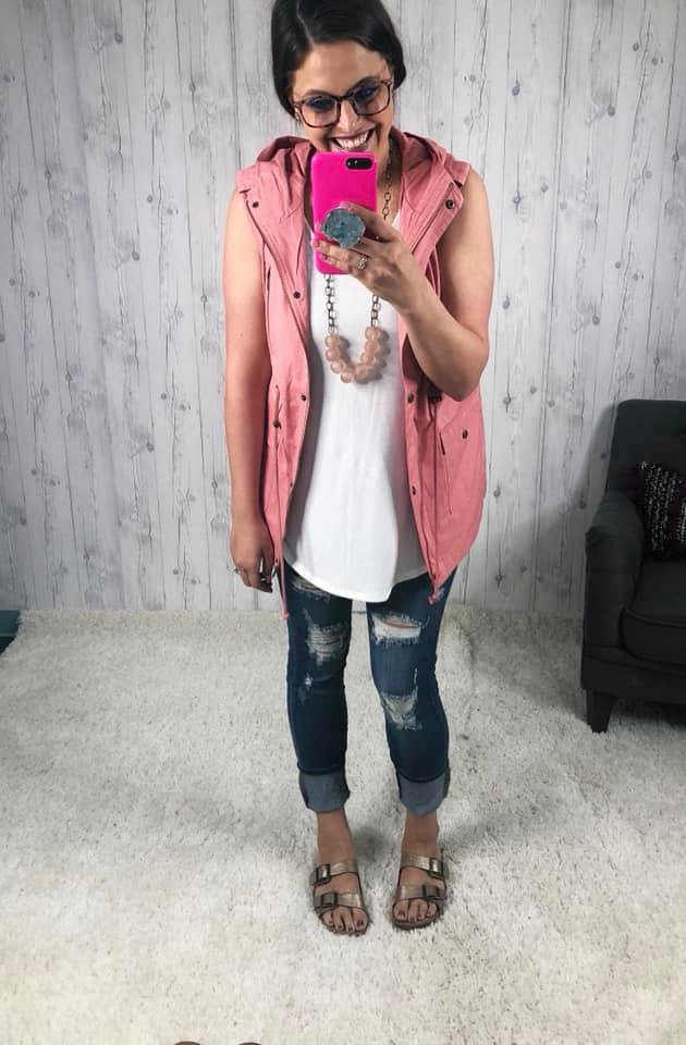 DEAL OF THE DAY Zip Up Hooded Vest