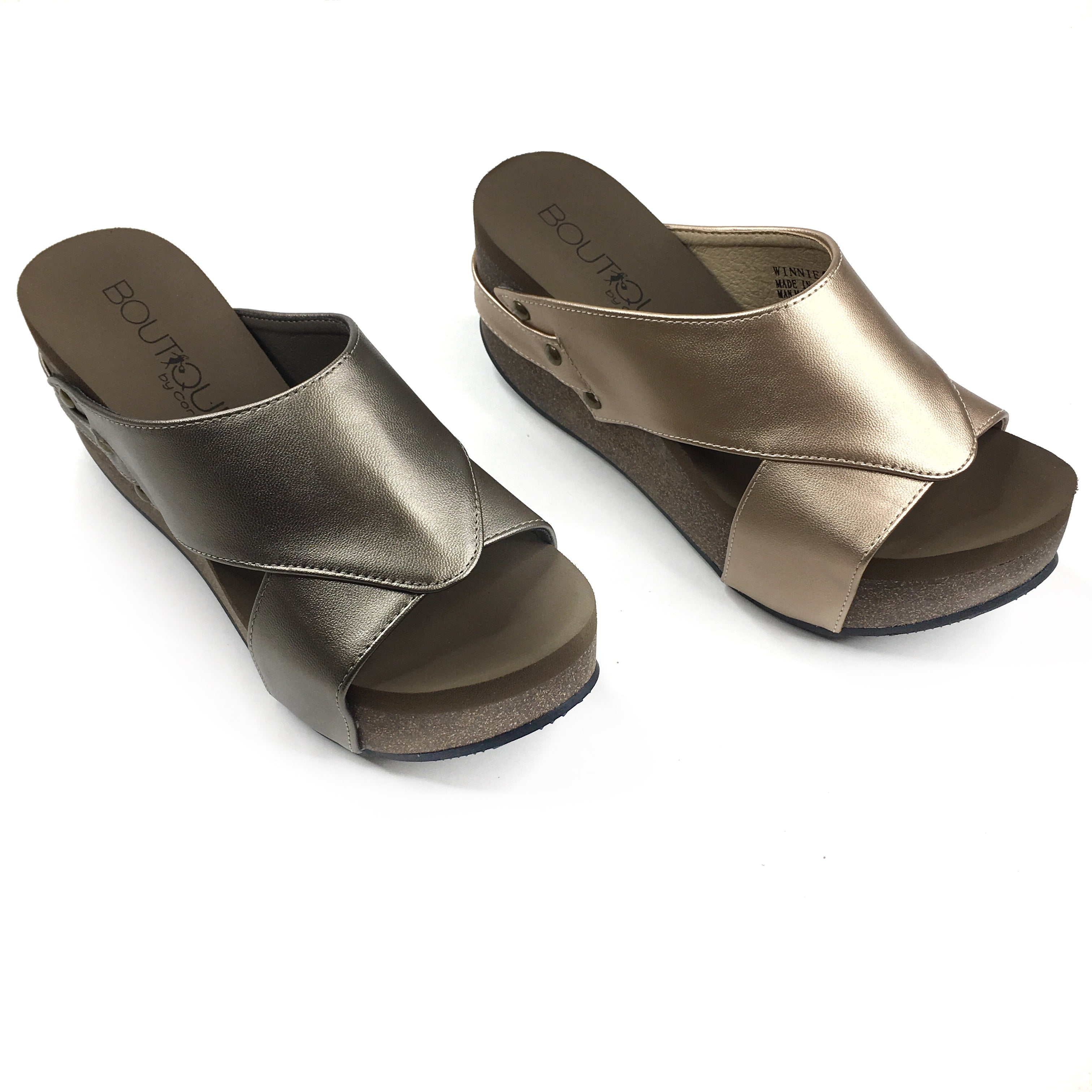 Corkys Slip On Wedges With Memory Foam