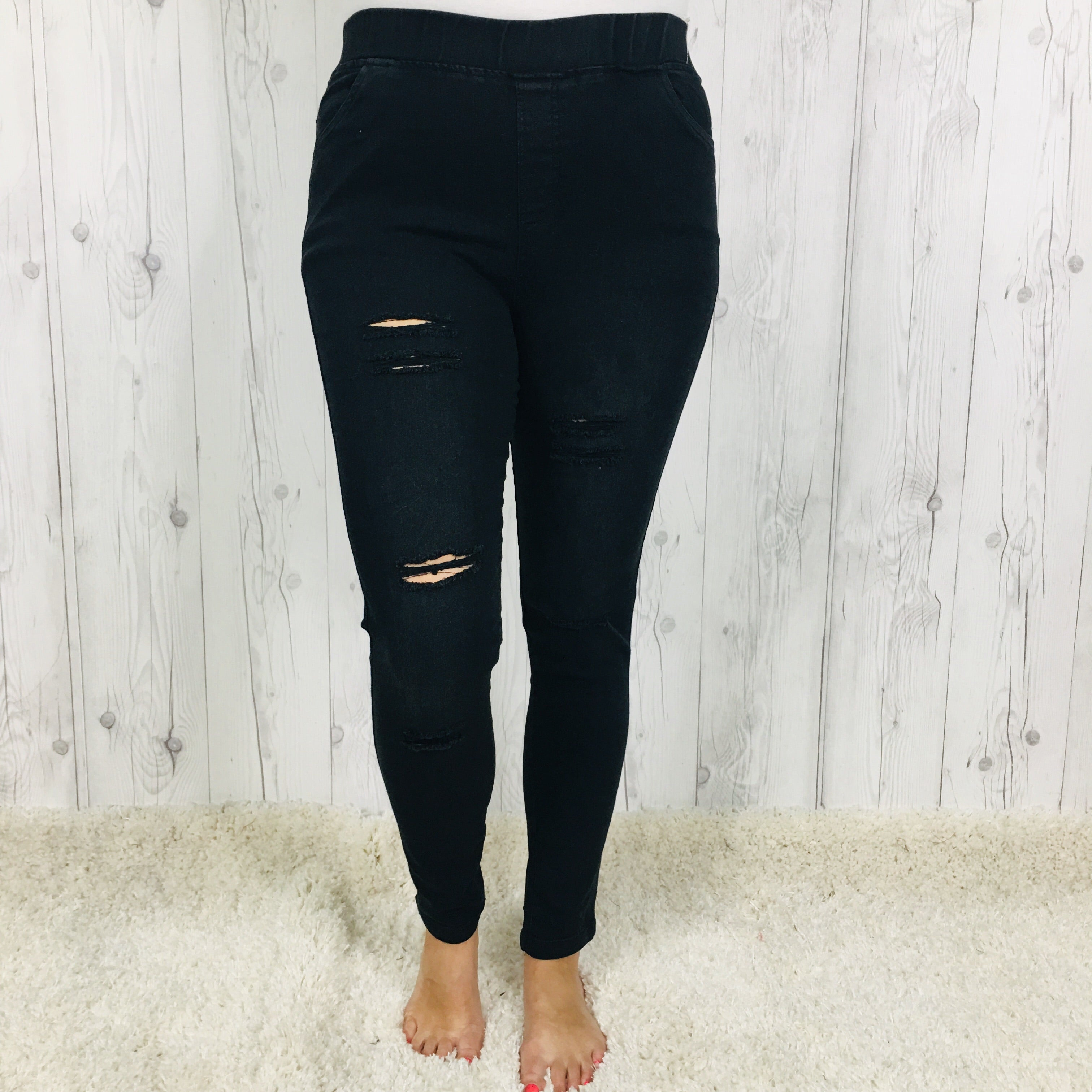 DEAL OF THE DAY Distressed Denim Jeggings