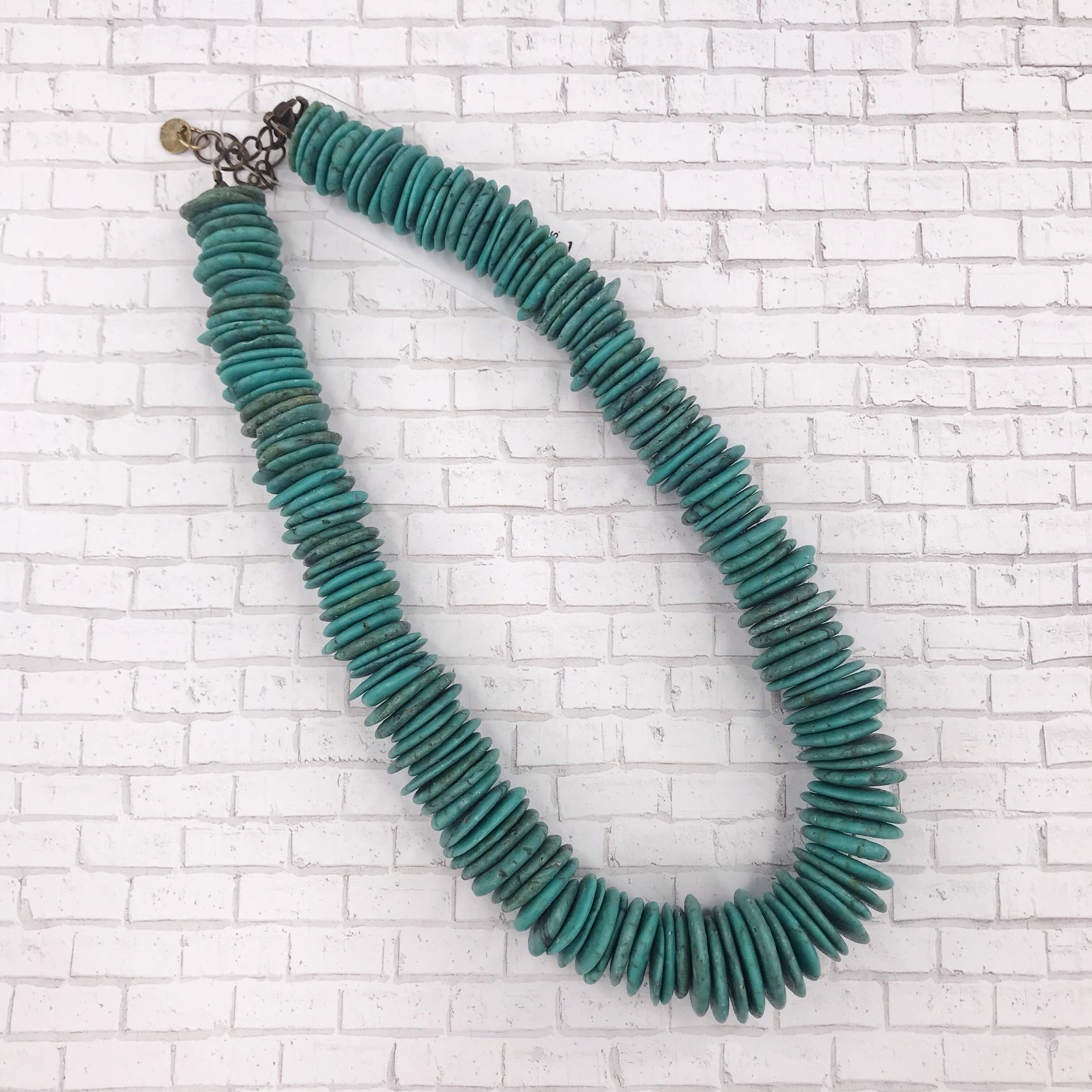 Handmade Haitian Turquoise Tellume Necklace