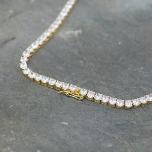 Classic Gold Tennis Necklace
