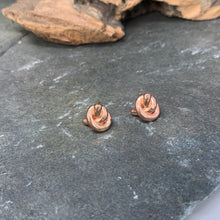Load image into Gallery viewer, Small Rose Gold Knot Earrings