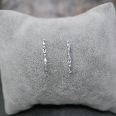 Silver Bamboo Earrings