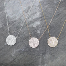 Load image into Gallery viewer, Pavé Disc Necklace