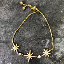 Load image into Gallery viewer, Gold Adjustable Star Bracelet