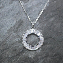 Load image into Gallery viewer, Silver Baguette Necklace