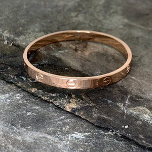 Rose Gold Rivet Bangle