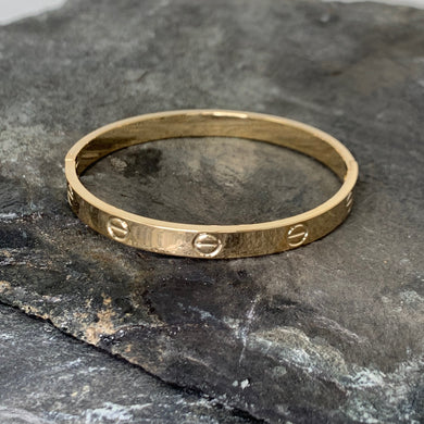 Gold Rivet Bangle