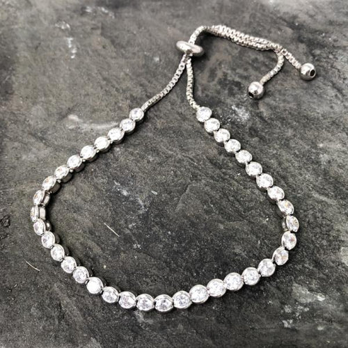 Classic Silver Adjustable Friendship Bracelet