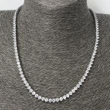 Load image into Gallery viewer, Classic Silver Tennis Necklace