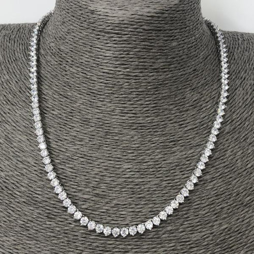 Classic Silver Tennis Necklace