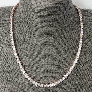 Classic Rose Gold Tennis Necklace