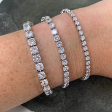 Load image into Gallery viewer, Assorted Stone Size Tennis Bracelets