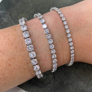 Assorted Stone Size Tennis Bracelets