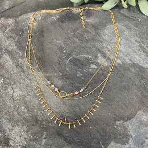 Triple Layer Gold Necklace