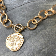 Load image into Gallery viewer, Textured Coin Necklace