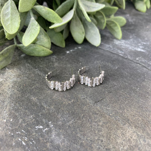 Small Chunky Baguette Hoops