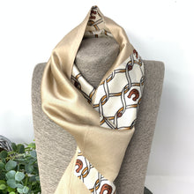 Load image into Gallery viewer, Gold Print Skinny Scarf