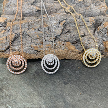 Load image into Gallery viewer, Diamanté Swirl Necklace