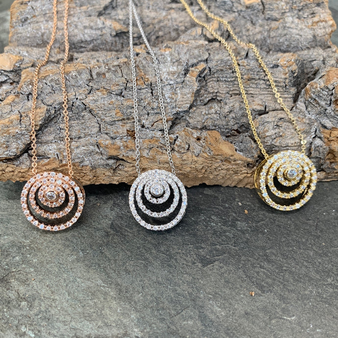 Diamanté Swirl Necklace