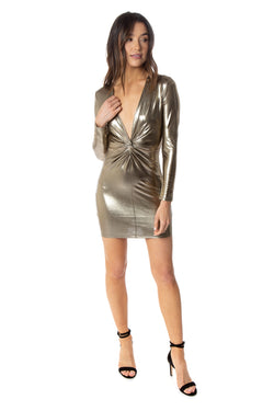 Palmer Dress - Gold Metallic