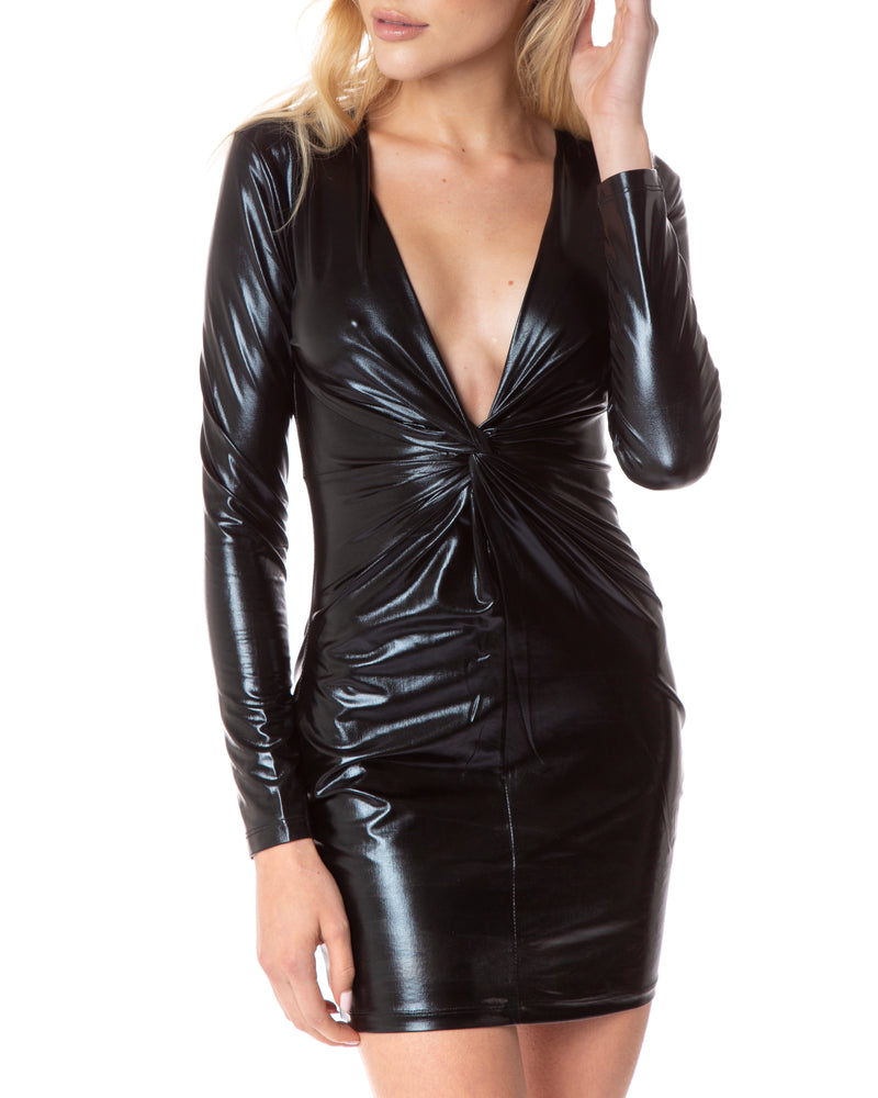 Palmer Dress - Black Metallic