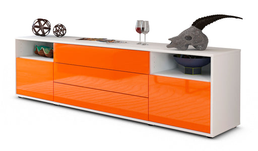 Lowboard Bettina, Orange (180x49x35cm)