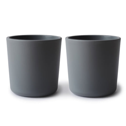 dinnerware cups - set of two | smoke