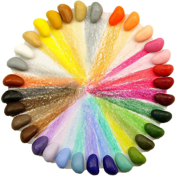 natural crayon rocks 32 colours in a bag